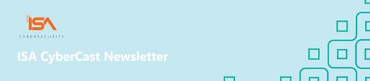 Rebrand ISA CyberCast Newsletter Header
